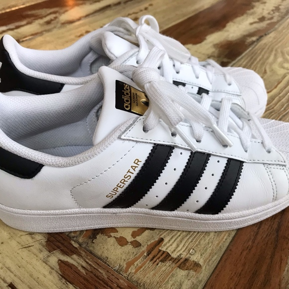 adidas Shoes - Adidas SUPERSTAR women size 7.5 White  3 Black 69e0de2d6b
